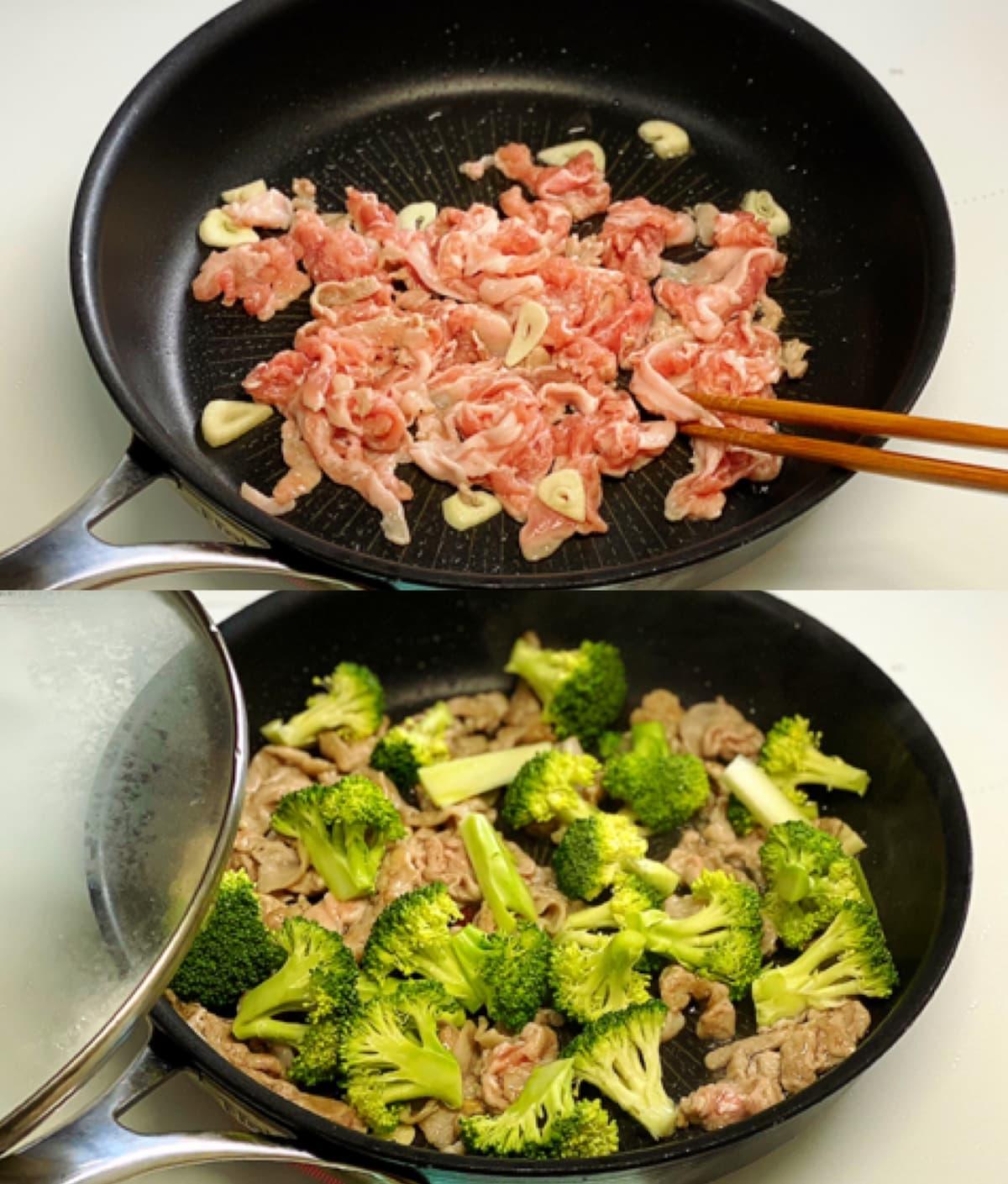 豚肉とブロッコリーのマヨ醤油炒め