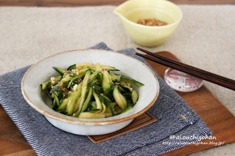 サラダや和え物に!「千切りきゅうり」を使ったおすすめレシピ