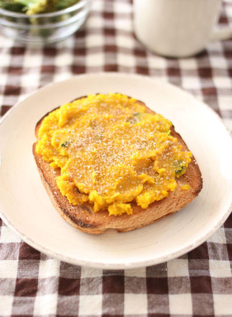 かぼちゃペーストでらくらく朝ごはん!ほっこり「秋味トースト」でビタミンチャージも♪
