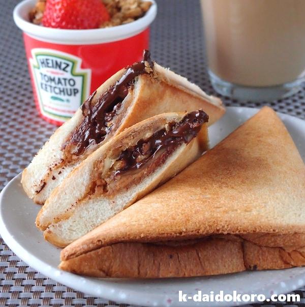 カリカリのパンからチョコがとろ~り♪「おやつ系ホットサンド」を作ろう