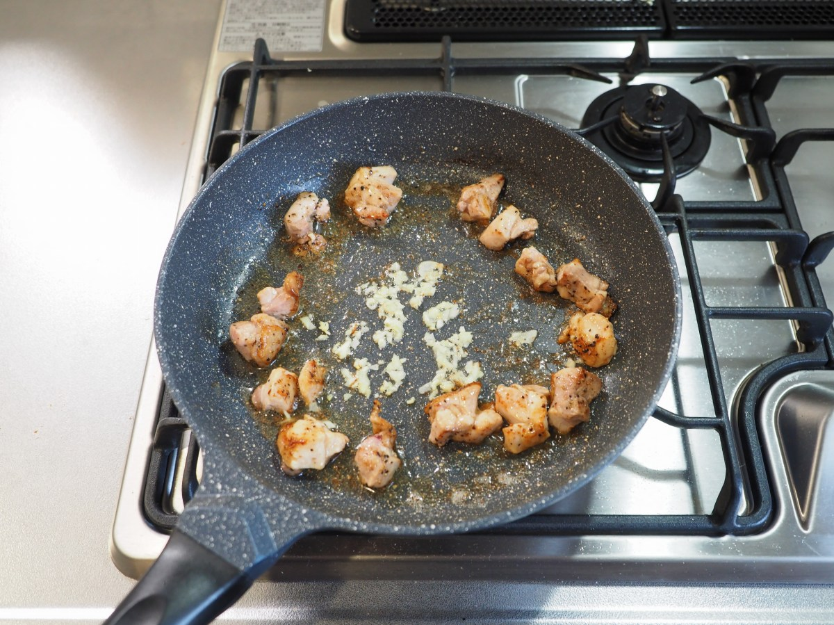 鶏もも肉のガーリックバターライス