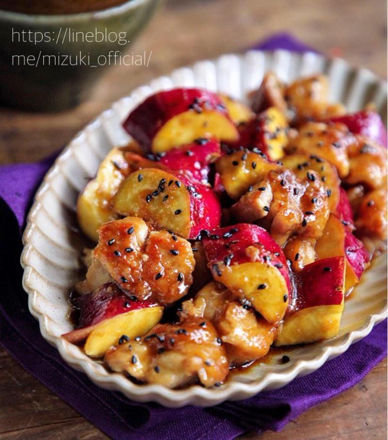 ボリューム満点秋おかず♪「さつまいも」は鶏肉と炒めるとおいしい!